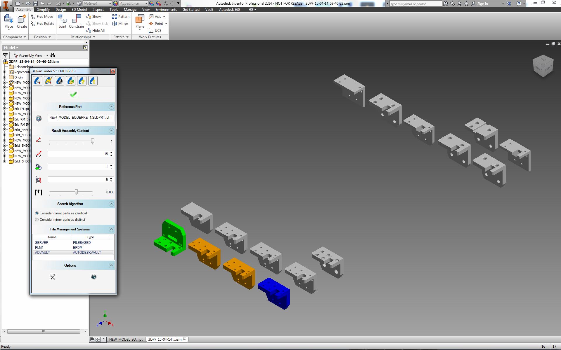 3DPartFinder For Autodesk Inventor