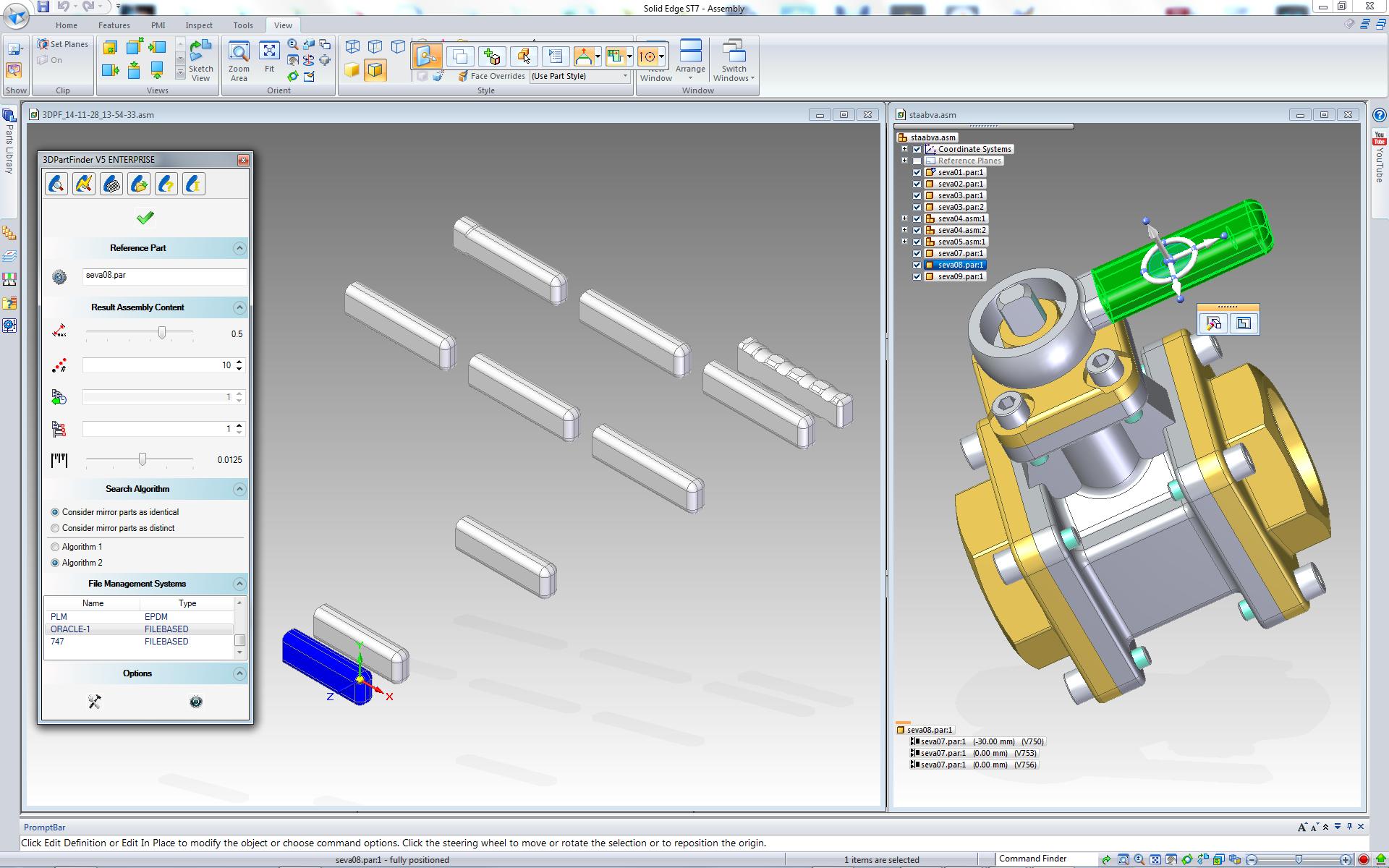 3DPartFinder for Solid Edge